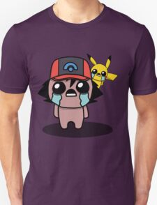 The Binding Of Isaac/Pokémon Crossover - Ash Ketchum and Pikachu (Sinnoh) T-Shirt