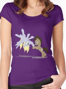 Derpy and Doctor Whooves Women's Fitted Scoop T-Shirt