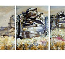 Stanage Triptych by Sue Nichol