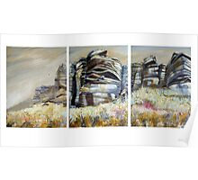 Stanage Triptych Poster