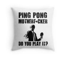 Funny Rude Ping Pong Shirt Throw Pillow