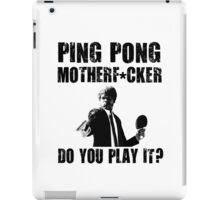 Funny Rude Ping Pong Shirt iPad Case/Skin