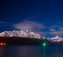 Queenstown by night by Andrew Dickman