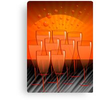 Exciting arrangement of the wine glasses  Canvas Print