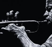 Contemporary Jazz Trumpeter Sticker