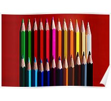 Color pencils Poster