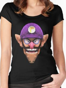 Triangle Waluigi Women's Fitted Scoop T-Shirt