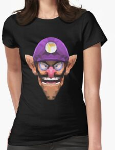 Triangle Waluigi Womens Fitted T-Shirt