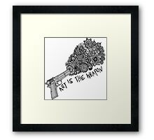 My Chemical Romance Art Is the Weapon Zentangle  Framed Print
