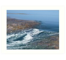 Photo of the tides changing at the great barrier reef Art Print