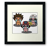 The Binding Of Isaac/Pokémon Crossover - Sinnoh Group Framed Print