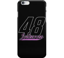 Jimmie Johnson #48 dark backgrounds iPhone Case/Skin