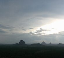 Storm over The Glass House Mountains by Darren Williamson