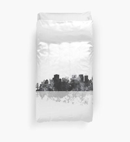 San Francisco, California Skyline - B&W Duvet Cover