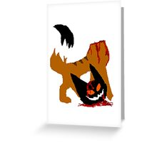 decapitated cat Greeting Card