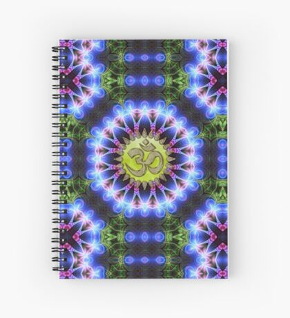 Om Shanti Fractal Geometry  Spiral Notebook