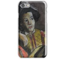 Postcard from Europe - a study of Caravaggio iPhone Case/Skin