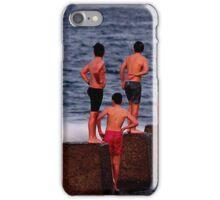 Boys at the beach iPhone Case/Skin