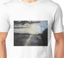 Sunset over the Bann River  in Northern Ireland Unisex T-Shirt