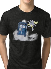 Derpy Tardis Delivery Tri-blend T-Shirt