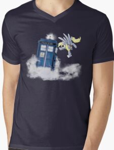 Derpy Tardis Delivery Mens V-Neck T-Shirt