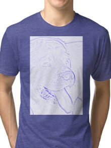 abstract dog Tri-blend T-Shirt