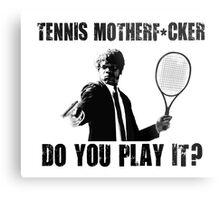 Funny Rude Tennis Shirt Metal Print