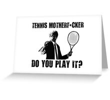 Funny Rude Tennis Shirt Greeting Card