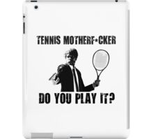Funny Rude Tennis Shirt iPad Case/Skin