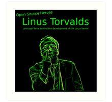 Linux Open Source Heroes - Linus Torvalds Art Print
