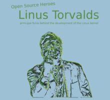 Linux Open Source Heroes - Linus Torvalds Baby Tee