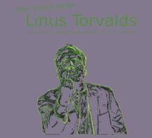 Linux Open Source Heroes - Linus Torvalds Kids Tee
