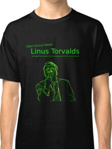 Linux Open Source Heroes - Linus Torvalds Classic T-Shirt