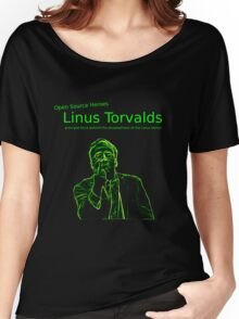 Linux Open Source Heroes - Linus Torvalds Women's Relaxed Fit T-Shirt