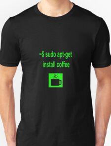 Linux sudo apt-get install coffee T-Shirt