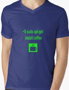 Linux sudo apt-get install coffee Mens V-Neck T-Shirt