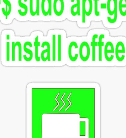 Linux sudo apt-get install coffee Sticker