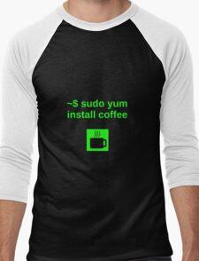 Linux sudo yum install coffee Men's Baseball ¾ T-Shirt