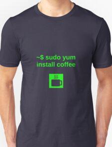 Linux sudo yum install coffee Unisex T-Shirt