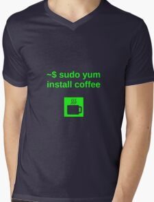Linux sudo yum install coffee Mens V-Neck T-Shirt