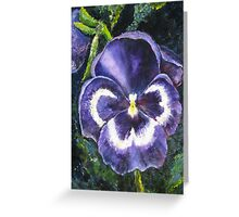 The Giant Purple Pansy Acrylic Painting Greeting Card
