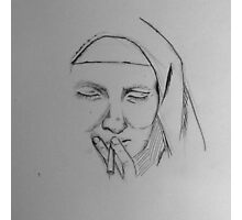 Smoking Nun Print Photographic Print