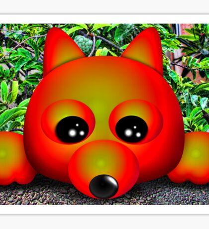 Foxy on the Gravel Sticker