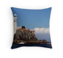 'Ireland's Teardrop' - the Fastnet Rock and lighthouse Throw Pillow