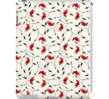 Delicate Red Flower Pattern iPad Case/Skin