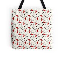Delicate Red Flower Pattern Tote Bag