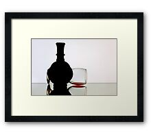 My Glass of Red Wine. Framed Print