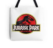 Jurassic Park Logo Grunge Tote Bag