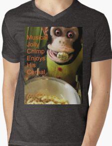 Jolly chimp enjoys His Cereal (Text version) T-Shirt