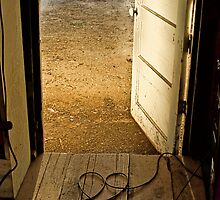 Old Shack Door with Sunlight HDR by hedidwhat